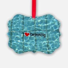 I Love Swimming  Ornament