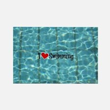 I Love Swimming  Rectangle Magnet