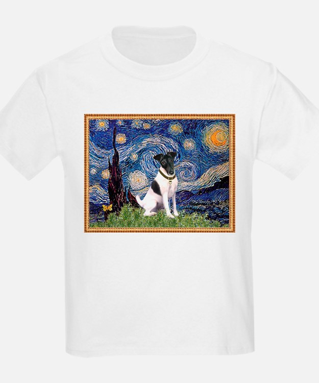 Starry Night & Smooth Fox Terrier T-Shirt