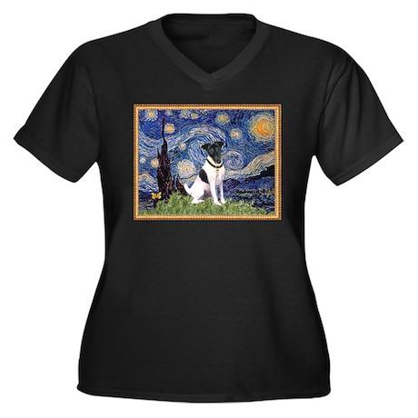 Starry Night & Smooth Fox Terrier Women's Plus Siz
