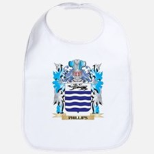 Phillips- Coat of Arms - Family Crest Bib
