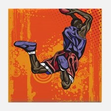 Basketball player Tile Coaster