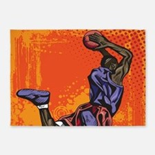 Basketball player 5'x7'Area Rug