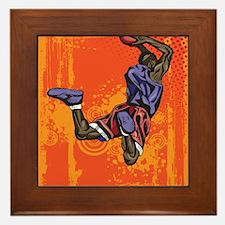 Basketball player Framed Tile