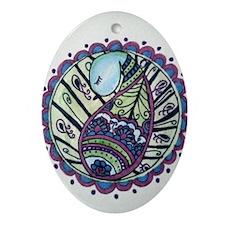 Cute Paisley Oval Ornament