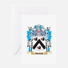 Pierce Coat of Arms - Family Crest Greeting Cards