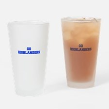 Highlanders-Fre blue Drinking Glass