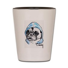 Timmy the Pampered Pug Shot Glass