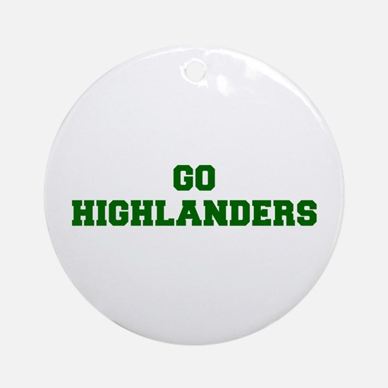 Highlanders-Fre dgreen Ornament (Round)
