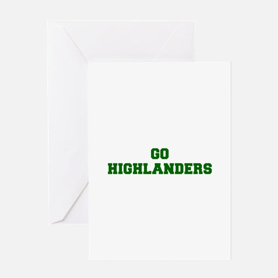 Highlanders-Fre dgreen Greeting Cards