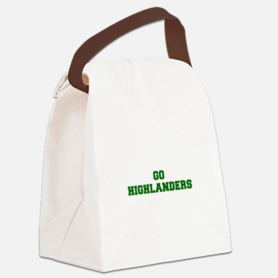 Highlanders-Fre dgreen Canvas Lunch Bag