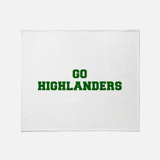 Highlanders-Fre dgreen Throw Blanket
