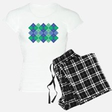 Blue-Green Argyle Pajamas