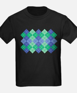 Blue-Green Argyle T-Shirt