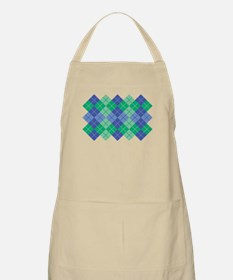 Blue-Green Argyle Apron