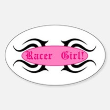 Racer Girl Oval Decal