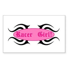 Racer Girl Rectangle Decal