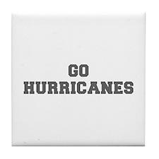 HURRICANES-Fre gray Tile Coaster