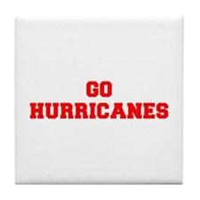 HURRICANES-Fre red Tile Coaster