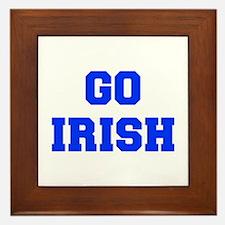 Irish-Fre blue Framed Tile