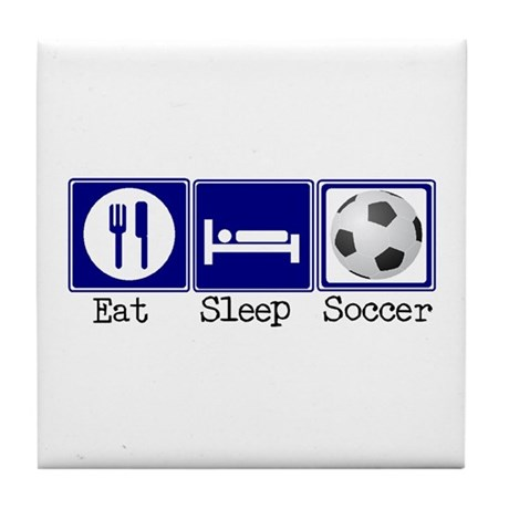 Eat, Sleep, Soccer Tile Coaster