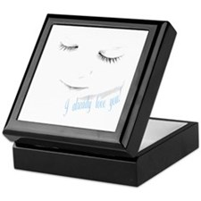 Already love you - blue Keepsake Box