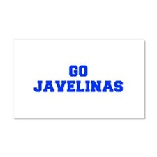 Javelinas-Fre blue Car Magnet 20 x 12