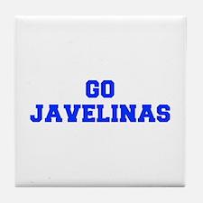Javelinas-Fre blue Tile Coaster