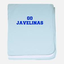 Javelinas-Fre blue baby blanket