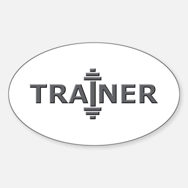 Trainer Metal Oval Decal