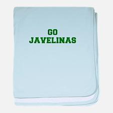 Javelinas-Fre dgreen baby blanket