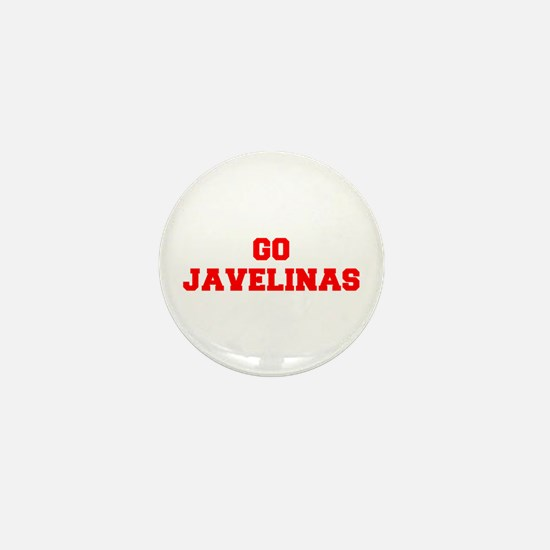 JAVELINAS-Fre red Mini Button