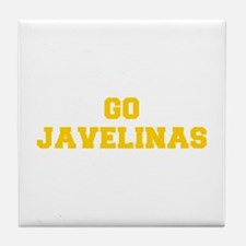 Javelinas-Fre yellow gold Tile Coaster