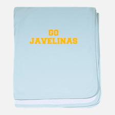 Javelinas-Fre yellow gold baby blanket