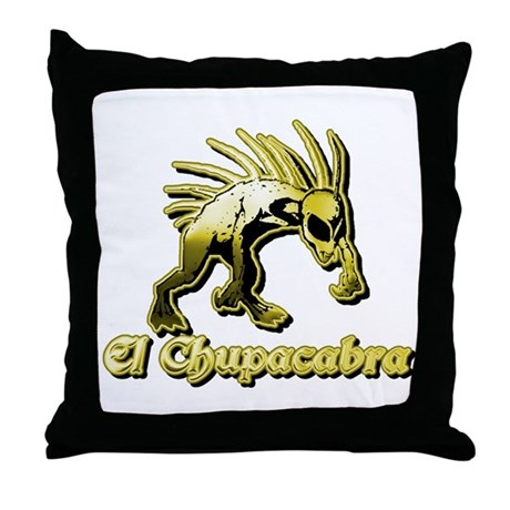 Chupacabra Yellow Throw Pillow