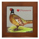 We Love Pheasants! Framed Tile