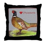 We Love Pheasants! Throw Pillow