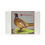 We Love Pheasants! Rectangle Magnet (100 pack)