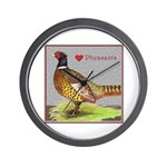 We Love Pheasants! Wall Clock