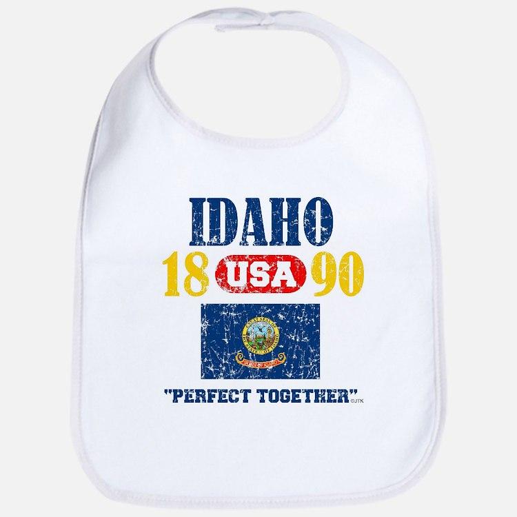"IDAHO / USA 1890 STATEHOOD ""PERFECT TOGETHER "" Bib"