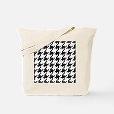 Pixel Houndstooth Tote Bag