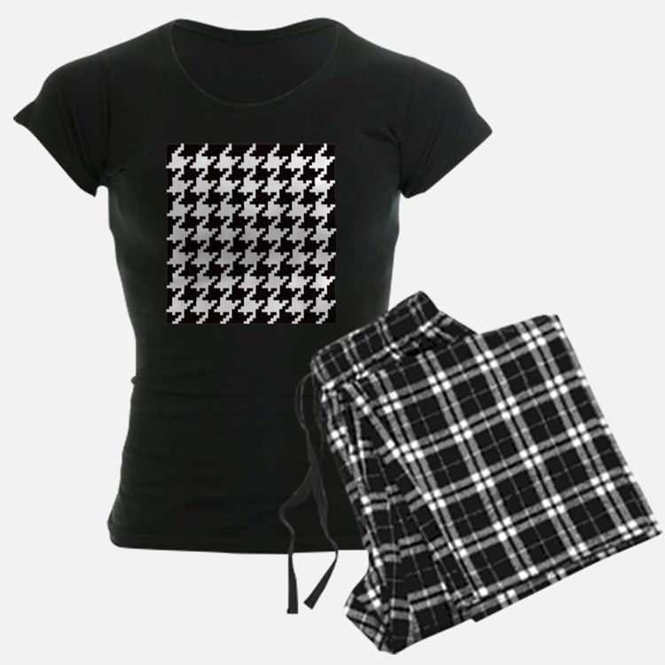 Pixel Houndstooth Pajamas