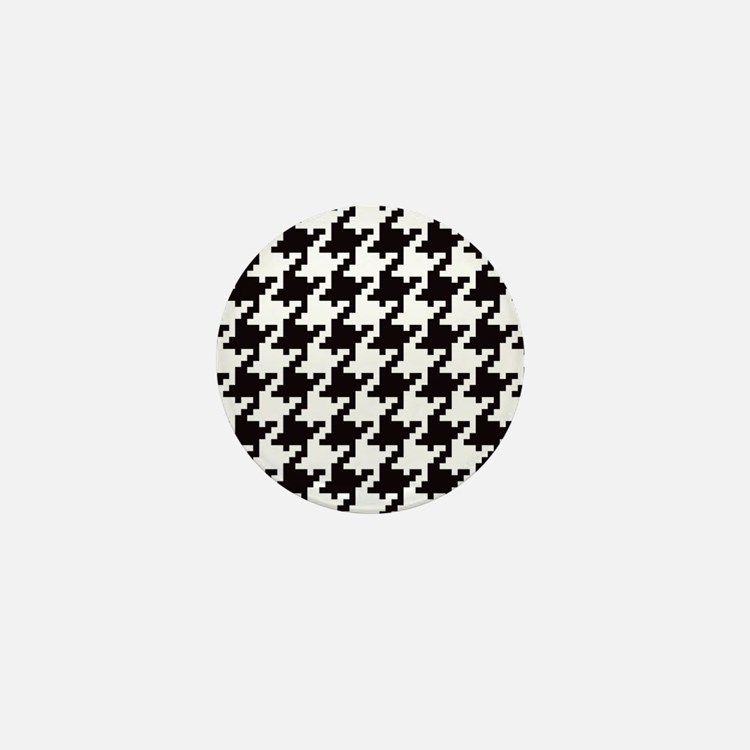 Pixel Houndstooth Mini Button