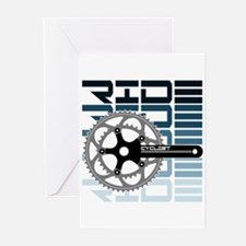 cycling-01 Greeting Cards