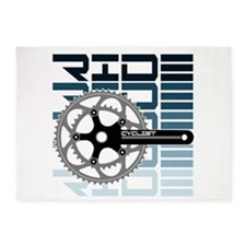 cycling-01 5'x7'Area Rug