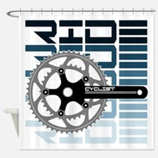 cycling-01 Shower Curtain