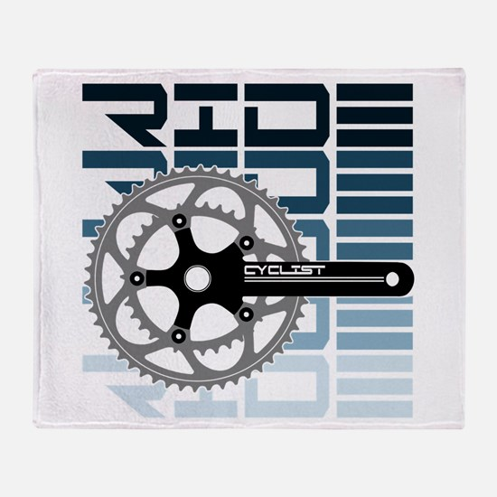 cycling-01 Throw Blanket