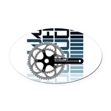 cycling-01 Oval Car Magnet