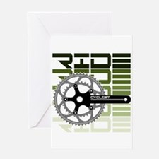 cycling-03 Greeting Cards