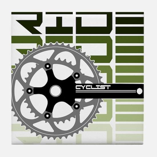 cycling-03 Tile Coaster